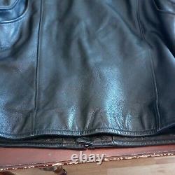 Harley Davidson Leather Black Bar And Shield Riders Veste Taille Grande