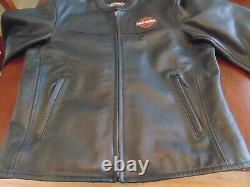 Harley Davidson Leather Black Bar Et Shield Riders Veste Taille Grande