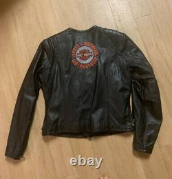 Harley Davidson Leather Jacket With Bar Shield & Logo Women's Med. Nouveau 299 $