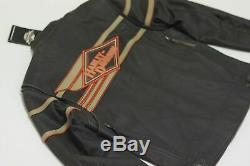 Harley Davidson Légende Distressed Homme Veste En Cuir Bar & Shield 2xl 98025-12vm