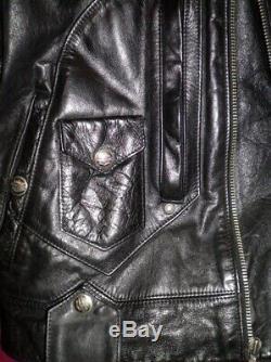 Harley Davidson Lg Vtg Boise Veste En Cuir Embossé Bar & Shield 98125-96vm USA
