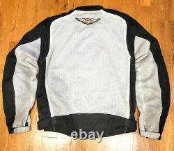 Harley Davidson Med Bar & Shield Mesh Functional Jacket W Body Armor 98232-13vm
