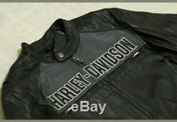Harley Davidson Men Horizon Trademark Bar & Shield Veste En Cuir M 2xl 97192-14vm