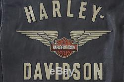 Harley Davidson Men Top Wing Bar & Shield Noir Veste En Cuir 98058-13vm M