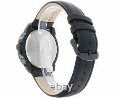 Harley Davidson Men's Bulova Watch Embossed Bar & Shield Leather Strap