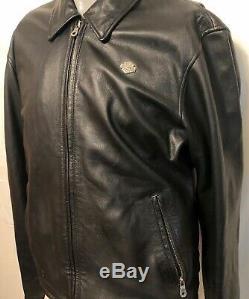 Harley Davidson Mens Bar Shield Épel Veste En Cuir Noir Sz Moyen Équitation
