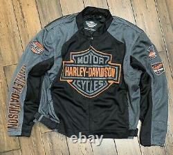 Harley Davidson Mens Bar & Shield Logo Mesh Veste 98233-13vm. Taille 2xlarge
