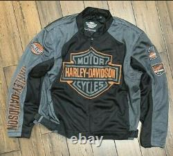 Harley Davidson Mens Bar & Shield Logo Mesh Veste 98233-13vt 2xlarge Big & Tall