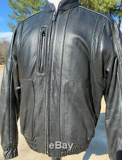 Harley Davidson Mens Black Blouson En Cuir Medium Bar & Shield