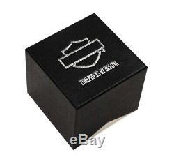 Harley Davidson Mens Bulova Bar & Shield Montre-bracelet Bracelet En Acier Inoxydable 76a019