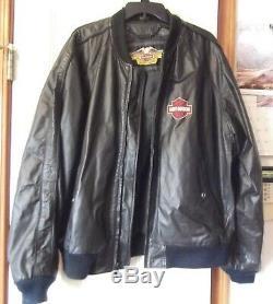 Harley Davidson Mens Grand Bar Et Le Bouclier Veste En Cuir Noir