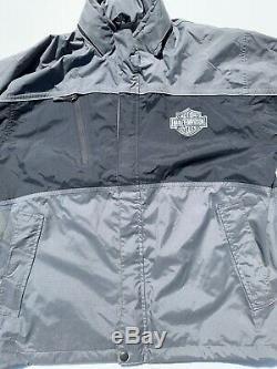Harley Davidson Mens Pluie Costume Veste Pantalon XL Gris Réfléchissant Bar & Shield