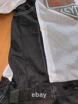 Harley Davidson Mens White Bar & Shield Mesh Jacket T.n.-o.