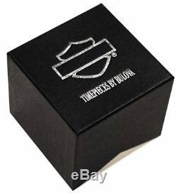 Harley Davidson Montre De Bar Et De Bouclier Pour Homme, Bracelet En Cuir, Acier Inoxydable Bulova
