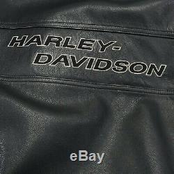 Harley Davidson Motard Veste Matelassée Armure Cafè Racer Bar & Shield Lrg