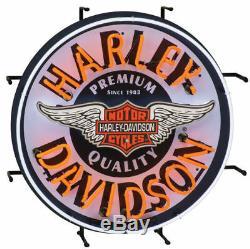 Harley Davidson Motos Winged Bar & Shield Enseigne Au Néon Hdl-15409