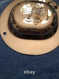 Harley Davidson Nostalgic Bar And Shield Top Hat Derby Cover Flsts Three Hole