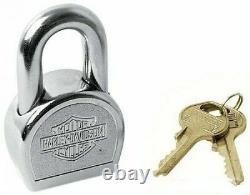 Harley Davidson Nouveau Oem Padlock Master Lock Bar & Shield Sécurité Softail