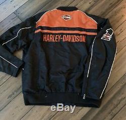Harley Davidson Nylon # 1 Racing Bar / Bouclier Veste Moto 98553-15vm Xlarge