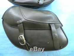 Harley Davidson Oem Bar & Shield Dyna Fxd Fxdl Cuir Saddlebags 90369-06d