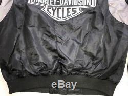Harley Davidson Petit Bar & Shield Gris Et Noir En Nylon Blouson 98417-08vm