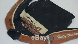 Harley Davidson Prestige En Cuir Pour Hommes USA Fabriqué Veste Bar & Shield XL 97000-05vm