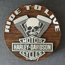 Harley Davidson Schild Bar & Shield Logo Baguette Deko