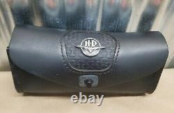 Harley Davidson Softail Bar & Shield Logo Pare-brise En Cuir Sac À Outils Pouch USA