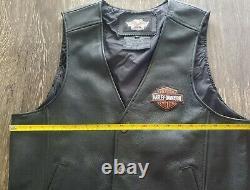 Harley Davidson Stock Veste En Cuir Avec Broderie Bar Bouclier Hommes Grand