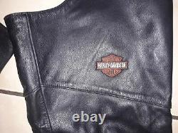 Harley Davidson Taille Femme Grande Barre Et Bouclier Chapeaux En Cuir Noir