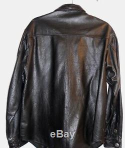 Harley Davidson Veste Chemise En Cuir Pour Hommes Moyen Pression Bouclier Barre Noire