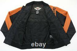 Harley Davidson Veste De Course M Nylon Bouclier De Barre Orange Noir 97068-00v Zip Up