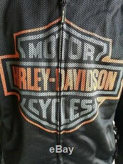Harley Davidson Veste De Moto En Maille Biker Bar Shield Logo Pour Homme XL