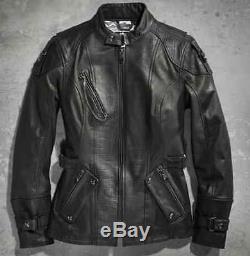 Harley Davidson Veste En Cuir À Clous Bar & Shield Olivia Wow Pour Femmes 97036-15vw M