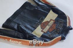 Harley Davidson Veste En Cuir Noir Prestige Pour Femmes Bar & Shield 97012-06vw M