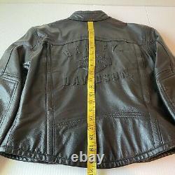 Harley Davidson Veste En Cuir Shifter Xs Black Embossed Bar Shield 98136-03vw