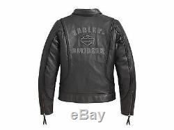 Harley Davidson Veste En Cuir Tressé Pour Bar Heritage Pour Femmes 98064-13vw 1w