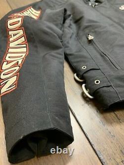 Harley Davidson Veste Hommes Nylon Bar & Shield Taille Ceinturée Petite