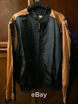 Harley Davidson Veste XXL Bar Nylon Noir Orange Bouclier 97068-00v Zip