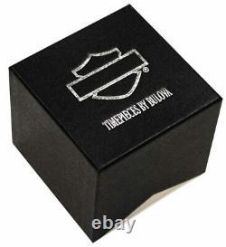 Harley Davidson Watch Spoke Design Red Top Ring Leather Strap Bar & Shield