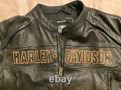 Harley Davidson XL Veste En Cuir Bar & Shield Logo, État Légèrement Utilisé