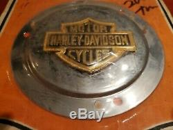 Harley Derby Couverture Primaire Chrome Bar & Shield 25455-85 Nos Fxr Fxrs Fxrt Evo