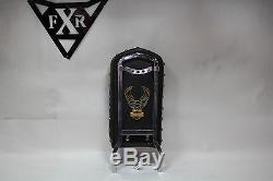 Harley Fxr Chrome Sissy Bar + Pad + Aigle Emblème Bar & Shield Fxrt Wow Eps20982