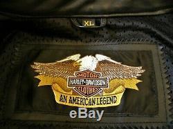 Harley Gaufrée Sort-out / Bar & Shield Veste En Cuir Pour Hommes Taille XL 97009-04vm