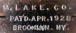 Harley, Jd, Fork Stabilizer, Bar & Shield, Nickel Plated Bronze, 1922-29, Aux États-unis