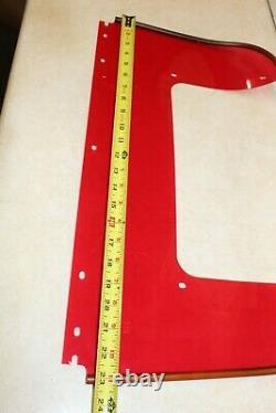 Harley Panhead Shovelhead Perled Pare-brise Fenêtre Inférieure Stamped Bar Shield Nos