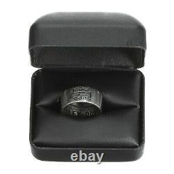 Harley-davidson Bague Pour Hommes Classic Bar & Shield Logo Band Silver Size 15 Hdr0264