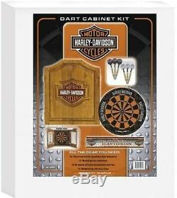 Harley-davidson Bar And Shield Steel Tip Dartboard Kit Livraison Gratuite