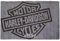 Harley-davidson Bar & Shield 5' X 3' Small Hand Made & Capitonné Tapis Hdl-19503