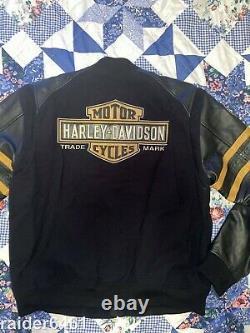 Harley-davidson Bar & Shield Bomber Black Jacket L H-d 97594-14vm Ec
